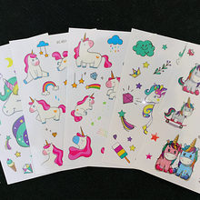1 vel Dromerige Eenhoorn Tattoo DIY Stickers Decoratieve Scrapbooking Dagboek Album Stok Label Student Supply Kids Gift(China)