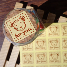 Hot 160pcs Thank You Stickers Cute Bear Packing Sealing Paste Gift for Affixed Tag Sticker Label 2.7X2.7cm