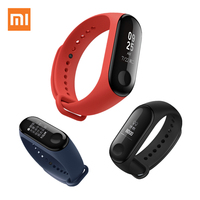 XIAOMI Mi Band 3 Smart Wristband Miband 3 Bracelet OLED Clock Heart Rate Fitness Tracker 5ATM Waterproof Upgrade Xiomi Mi Band 2