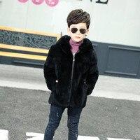 2018 Детские осенние и зимние жилет дети действительно кроличий мех мальчик пальто с мехом детская натуральный мех модная одежда пальто для м