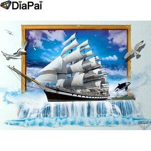 DIAPAI 5D DIY Алмазная картина 100% полная квадратная/круглая дрель