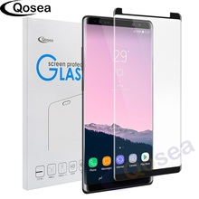 Qosea For Samsung Galaxy Note 8 Screen Protector 9H Electroplated 4D Front Full Film Case For Galaxy Note 8 Phone Tempered Glass