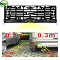 HD CCD EU European Car License Rear View Camera Front View Camera License Plate Frame Parking Camera With Two Parking Sensors