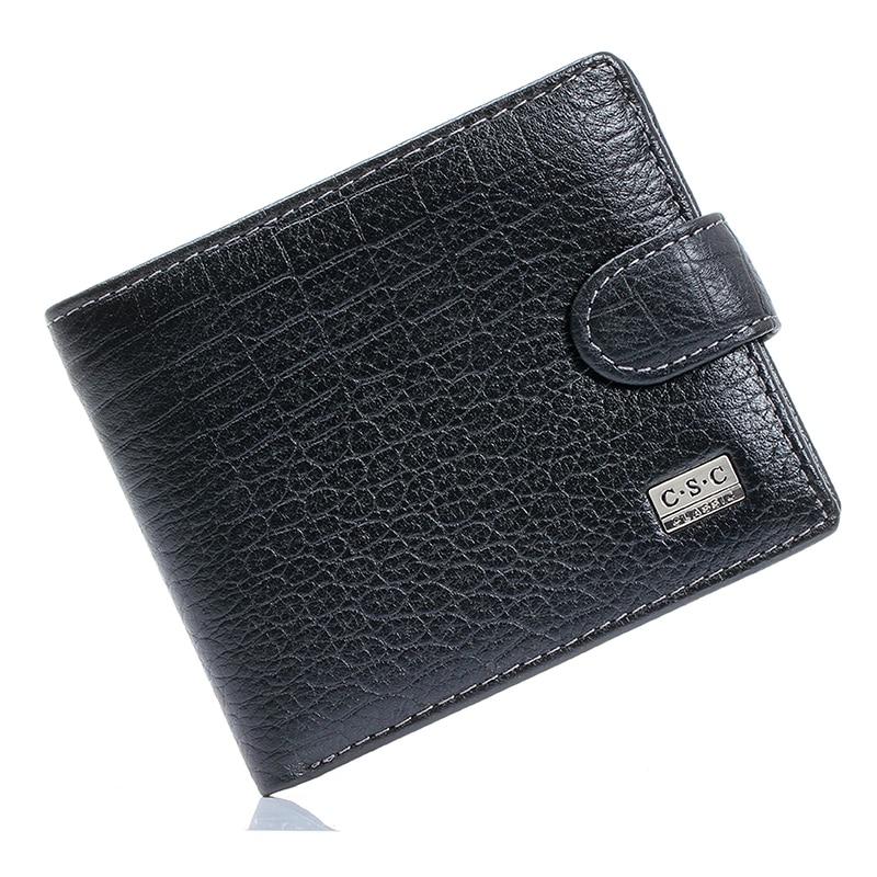 Hot Sale Crocodile Black Real Genuine Leather Bifold ...