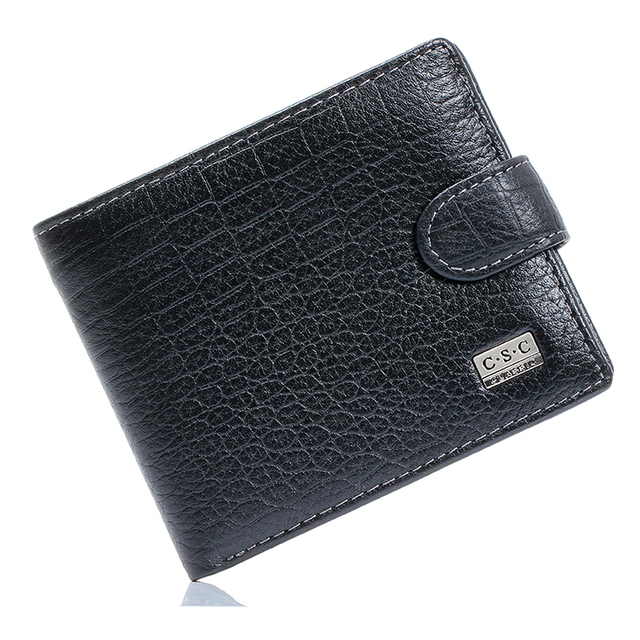 Hot Sale Mens Crocodile Black Real Genuine Leather Bifold Clutch Wallets Purses Coin Pouch ID Credit Cards Holder Dollar Package