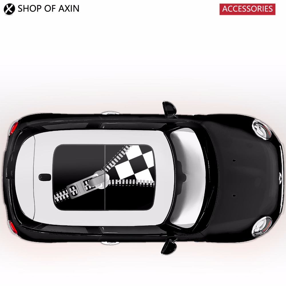 Sunroof Sticker Graphics Decoration zipper For Mini Cooper clubman countryman hardtop R50 R52 R53 R55 R56 R60 R61 F54 F55 F56 aliauto car styling side door sticker and decals accessories for mini cooper countryman r50 r52 r53 r58 r56