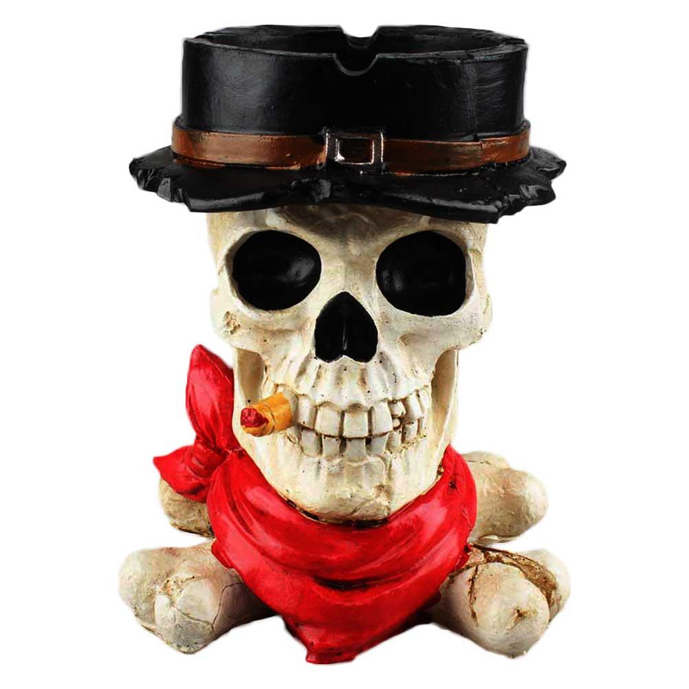 Halloween Decor Creative Skull Hat Pattern Resin Ashtray