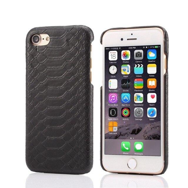 iPhone 8 Plus case snakeskin Black maybach 100/% genuine snakeskin leather case
