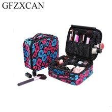 Professional large cosmetic bag portable travel waterproof storage suitable for makeup brush set