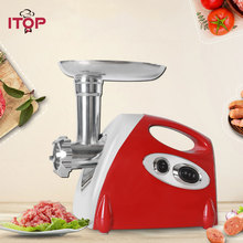 лучшая цена ITOP Electric Kitchen Meat Grinder Chopper & Sausage Stuffer Household Mincing Machine Kitchen Food Chopper Processors