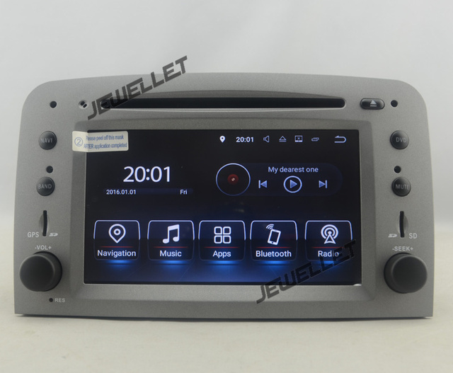 Quad core Android 8.1 Car DVD GPS radio Navigation for Alfa Romeo 147 GT with 4G/Wifi DVR OBD mirror link 1080P