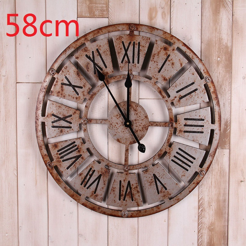 Retro Wall Clock Wandklok Large Wall Clocks Vintage Home Decor Antique  Kitchen Pared Relojes Decoracion Saat Wanduhr Watch Round In Wall Clocks  From Home ...