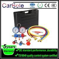 CarBole Refrigerant Manifold Gauge Charging Hose 5ft R134a R12 R22 R502 HVAC M14*1.25