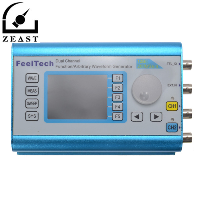 FY2300 6MHz Arbitrary Waveform Dual Channel High Frequency Signal Generator 200MSa/s 100MHz Frequency Meter DDS mhs 5212p power high precision digital dual channel dds signal generator arbitrary waveform generator 6mhz amplifier 80khz