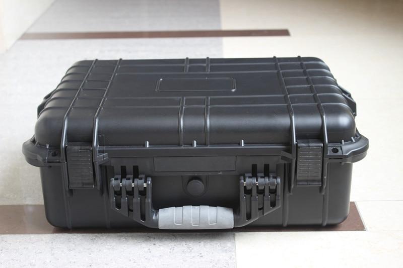 Tool case toolbox suitcase Impact resistant sealed waterproof plastic case equipment box camera case Meter box with pre-cut foam tool case toolbox suitcase impact resistant sealed waterproof abs case 490 333 132mm camera case equipment box with pre cut foam