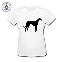 2017 Fashion Summer Style Greyhound Printed Summer Easeful Cotton Funny T Shirt Women