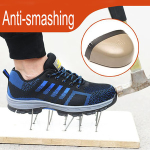 Image 3 - Men Safety  Work BootsShoes  Construction Outdoor Steel Shoes Summer Breathable Anti Piercing Mite High Quality