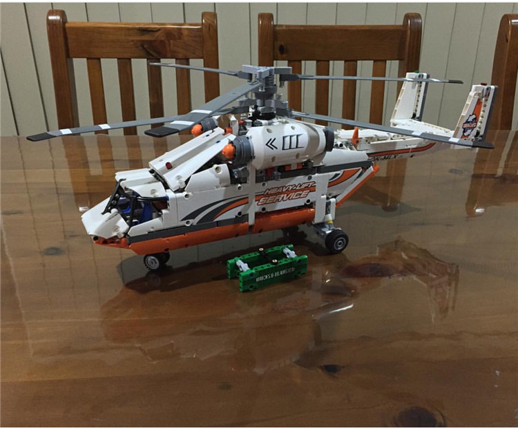 LEPIN 20002 1060pcs Technic series Helicopter Model Building Blocks Bricks Toys For Children Compatible 42052 Gift city airport vip private plane blocks bricks building technic christmas toys for children compatible with legoeinglys lepin 8911