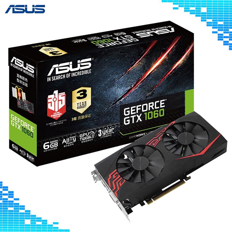 Asus GTX 1060-O6G-GAMING Mainstream niveau Graphique De Bureau Cartes GDDR5 PCI Express 3.0 NVIDIA GeForce GTX 1060 6g Graphique