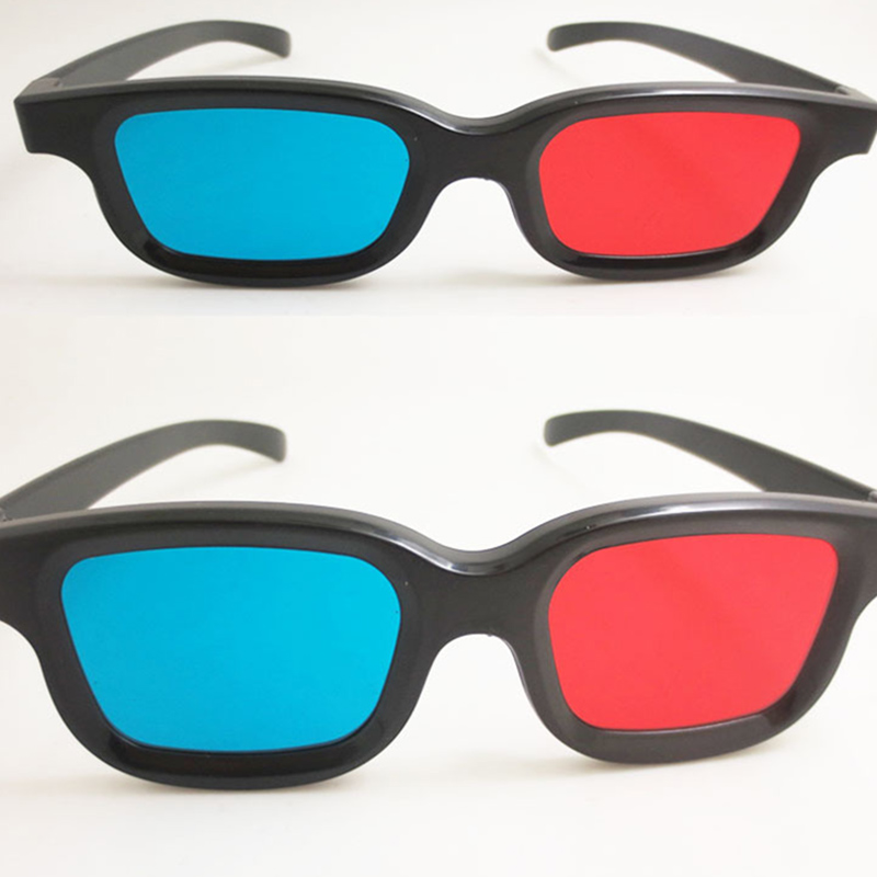 Red and Blue virtual reality VR 3D glasses to watch 3D moive in computer and mobile phones free shipping 20-60days brazil 90days