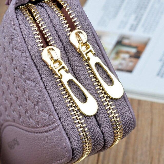 women's wallet portfel damski purse female Double Zip wallet large female leather genuine designer wallets monederos para mujer 3
