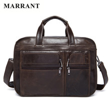 MARRANT 2016 Men Genuine Leather Casual Briefcase Business Shoulder Real Leather Messenger Bags Laptop Handbag Men's Travel Bags