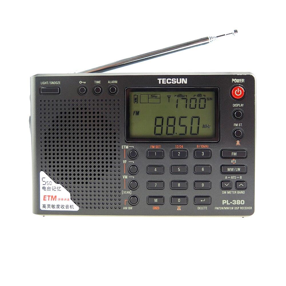 Tecsun PL-380 PL380 радио цифровой PLL Портативный радиоприемник FM стерео/LW/SW/MW DSP приемник хороший