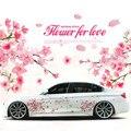 1 Para Romantische Kirschblüte Blume Japan Auto Aufkleber Aufkleber Sakura Blume Rosa Hochzeit Auto Körper Aufkleber Abdeckung Auto Styling-in Autoaufkleber aus Kraftfahrzeuge und Motorräder bei