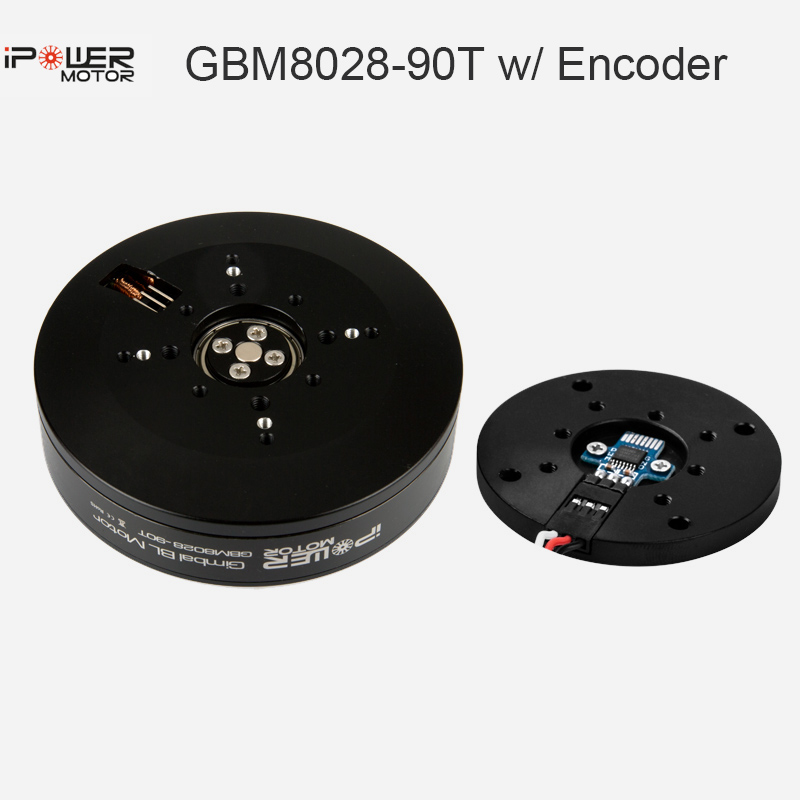 iPower Motor GBM8028-90T Brushless Gimbal Motor w/ Sealed Case with AS5048A Encoder Max Torque 5.5kg