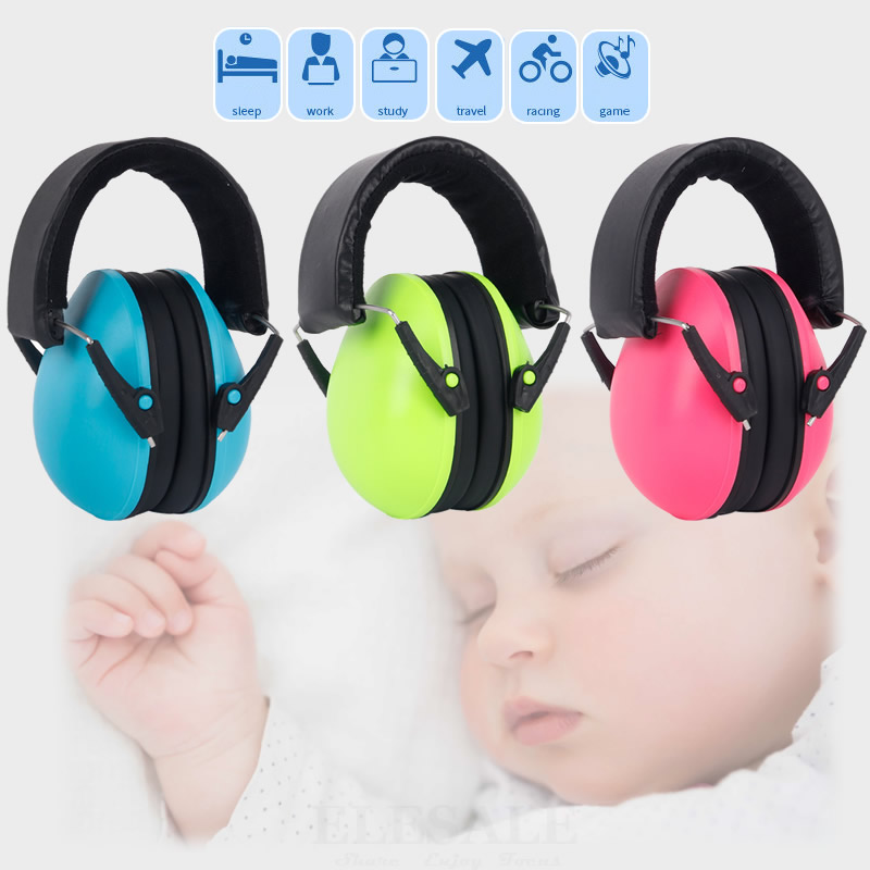 Color Anti-Noise Head Earmuff For Kids Noise Reduction NNR:25dB Work Study Game Hearing Protection Children Ear Protector digital hearing aids medical health ear care low noise mini invisible sound amplifier deaf aid s 11a