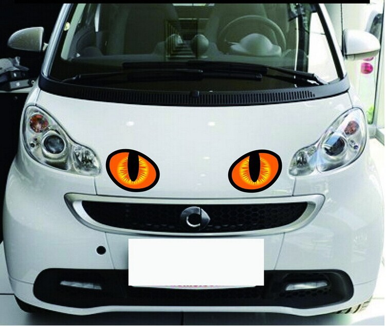 new arrvial 1 Pair 3D simulation cat eye car sticker Car Head Cover Rearview Mirror Windows Decoration car-styling HG8863