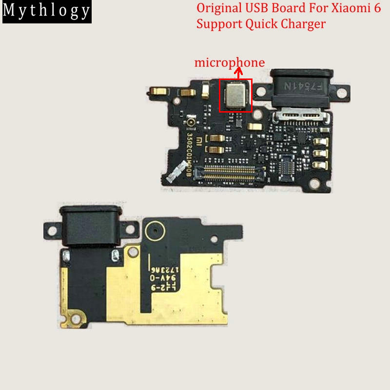 Mythology Microphone Dock-Connector Usb-Board Flex-Cable Support Xiaomi Mi6 Original title=