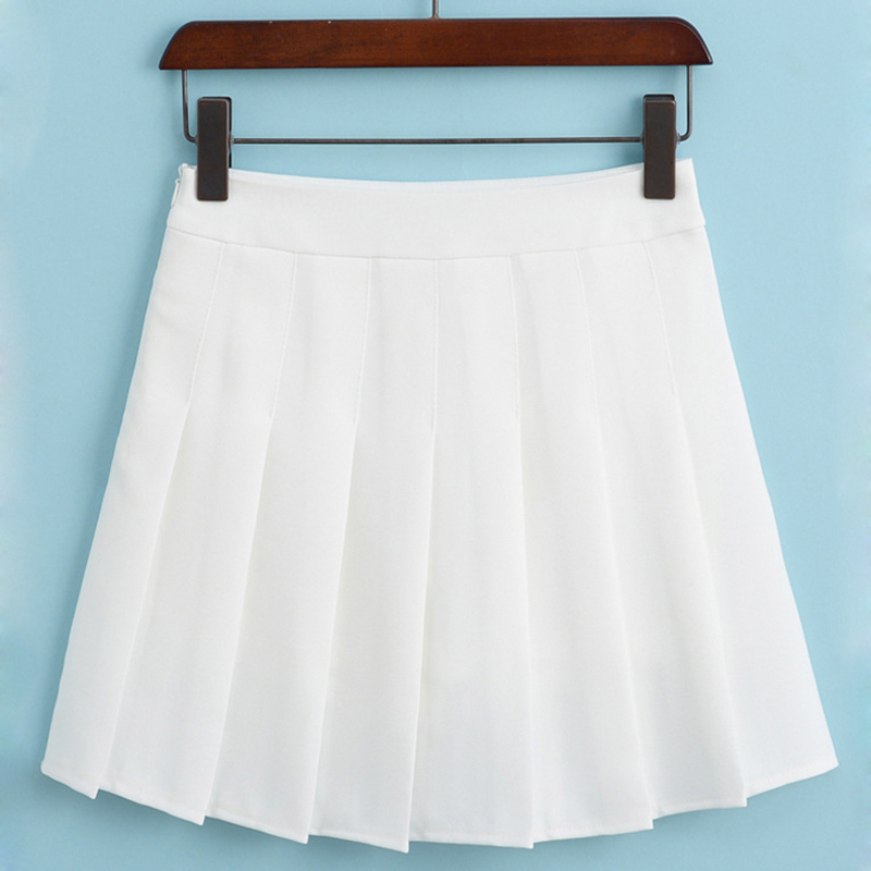 Fashion A-line Skirt For Girl Sweet Skirts Solid Mini Skirt Women Hot Sale 2017 New Product Student Clothing JD1192