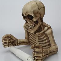 Страшные украшения на Хэллоуин обтягивающая, с черепом декоративная подвеска держатель туалетной бумаги для ванной комнаты декор настенна...