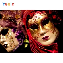 Yeele Grimace Mask Backgrounds Professional Photography Backdrops Photographic For Photo Studio Carnival Birthday Surprise Party laeacco mardi gras carnival nights mask dinner party wall decorations photography backgrounds photographic backdrops for photo