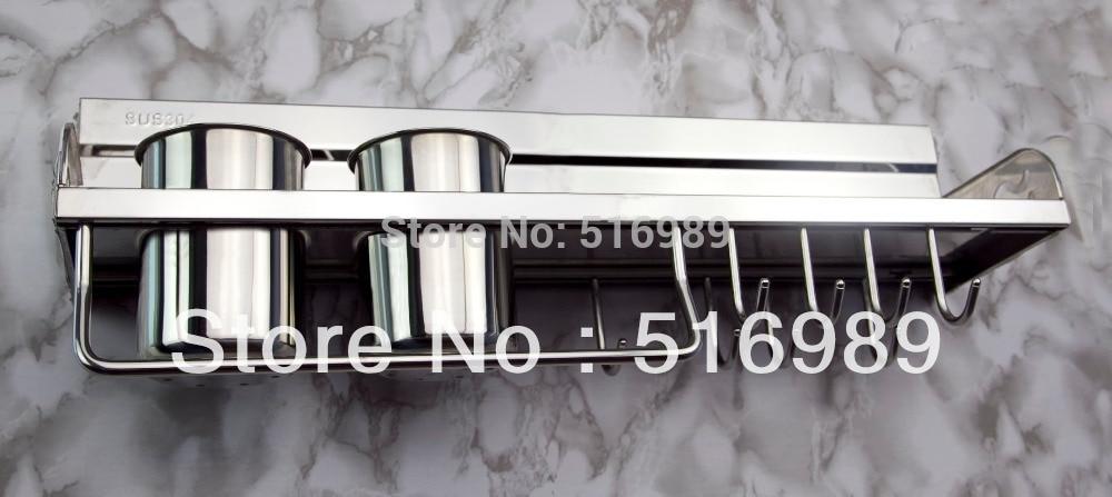 Newest Chrome Stainless Steel Bathroom Kitchen Single-deck Storage Shelf Holder tree736 niko 50pcs chrome single coil pickup screws