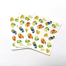 3pcs Water Nail Decal and Sticker Sexy lips Simple Summer Slider for Manicure Art Watermark Tips B62