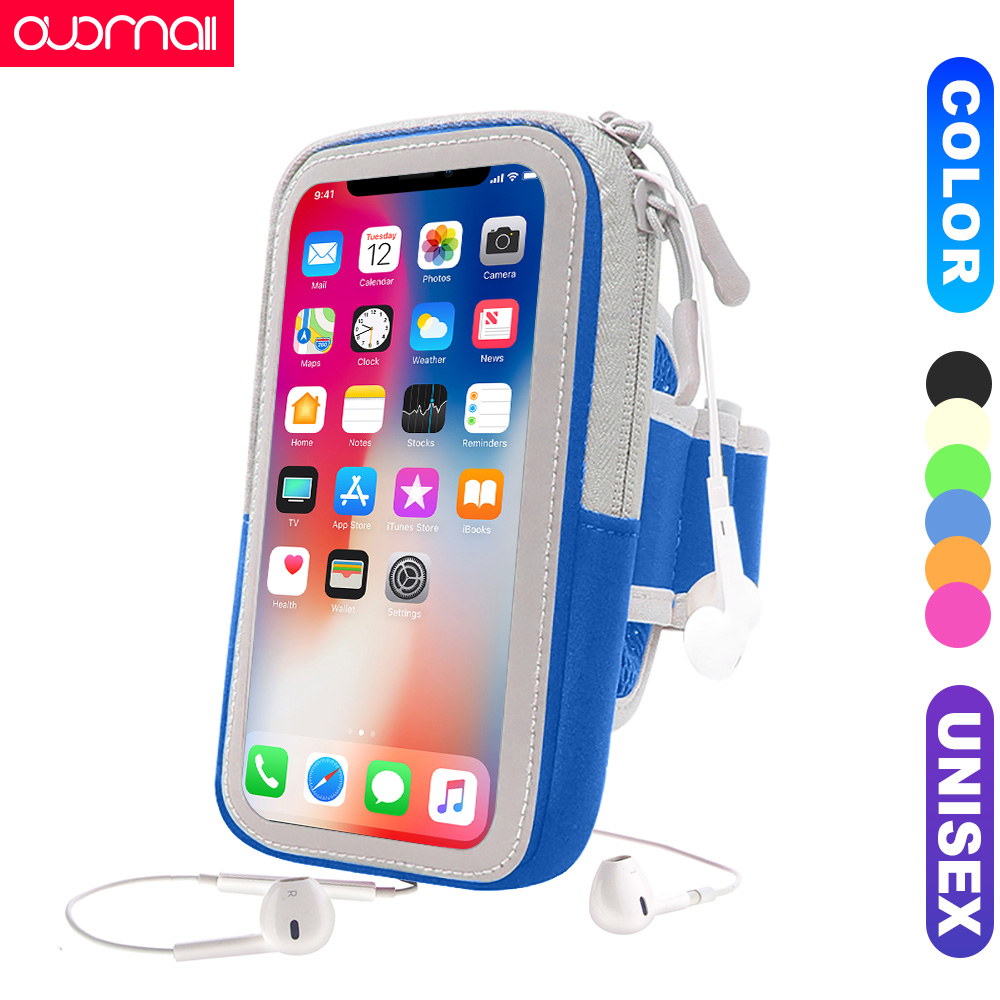 Unisex Sports arm bag for iphone xs max xr x 8plus 7plus 6s plus 84 running mobile phone Universal Arm band Phone Bag