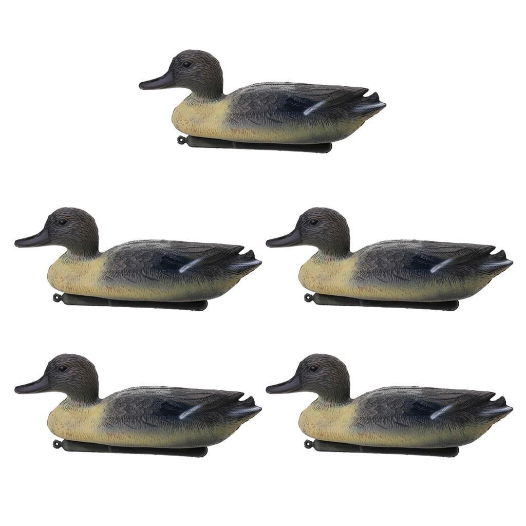 5 Pieces Lifelike Drake Duck Decoy Greenhand Hunting Decoy Yard Decor Hunting Duck Decoys Yard Lake Decorative Garden Ornaments