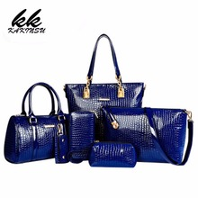 6 Set Luxury Handbags Women Bags Designer High Quality Female Shoulder Bags Fashion Tassel Famous Brands Casual Tote PU Leather