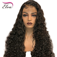 Elva 150% Density 13*6 Deep Parting Lace Front Human Hair Wigs For Women Brazilian Lace Wigs Bleached Knots Remy Hair 8'' 26''