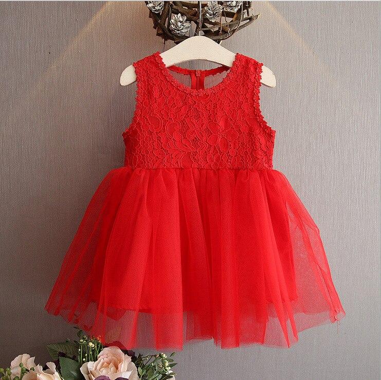 2018 летние дети Платья для женщин Новая мода Кружево шить дети Платье-майка для девочек детская одежда