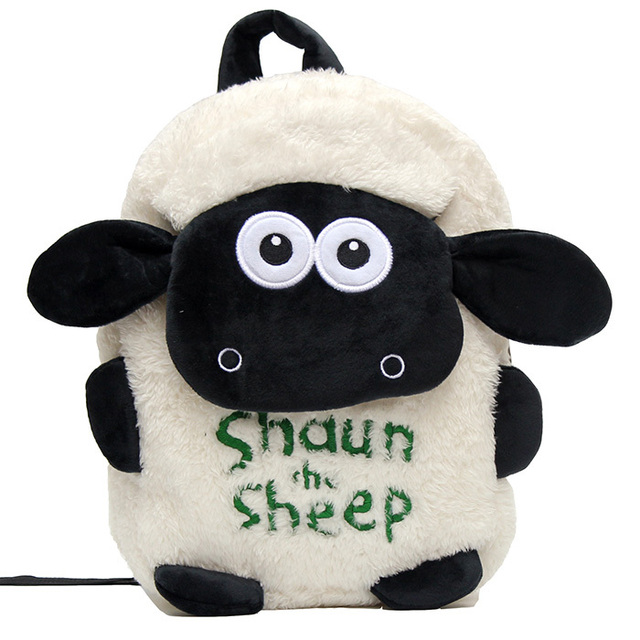 491aa592b116 Children Shaun The Sheep bags lovely small plush bags cartoon brand kids  backpack Children s school bags for little boys girls