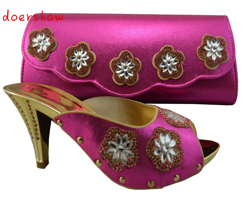doershowFuchsia Latest European Style Rhinestone African Bride Shoes Match Bag Set Latest African Shoes Women and Bag Set ZX1-81doershowFuchsia Latest European Style Rhinestone African Bride Shoes Match Bag Set Latest African Shoes Women and Bag Set ZX1-81
