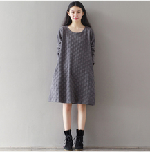 Quality Cotton Maternity Dresses Autumn Long Sleeve Clothes for Pregnant Women Clothing for Pregnancy 2016 New Fashion B289