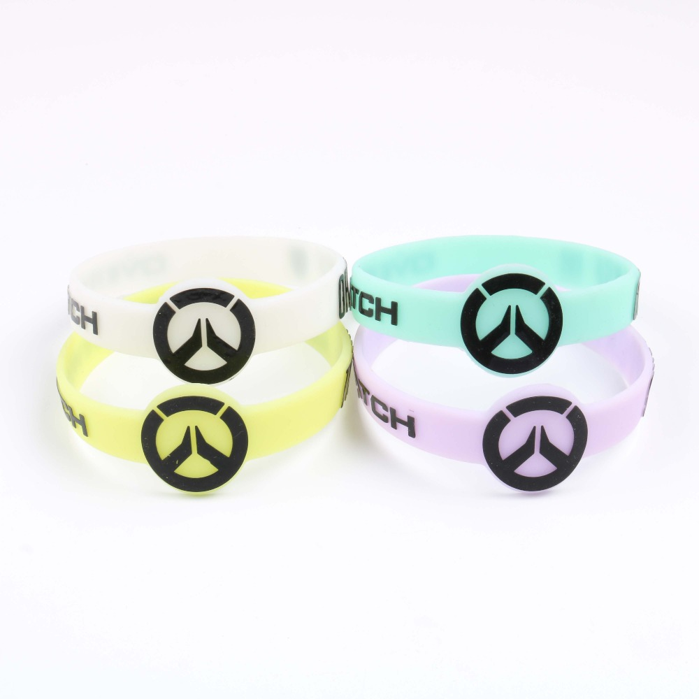 BRAND NEW Overwatch Luminous Silicone Bracelet OW Game Bracelet For Women&Men Entertainment Logo over Watch Wristband Pulsera