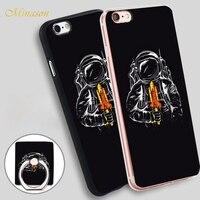 Minason Astronauts rocket Soft TPU Silicone Phone Case Cover for iPhone X 8 5 SE 5S 6 6S 7 Plus
