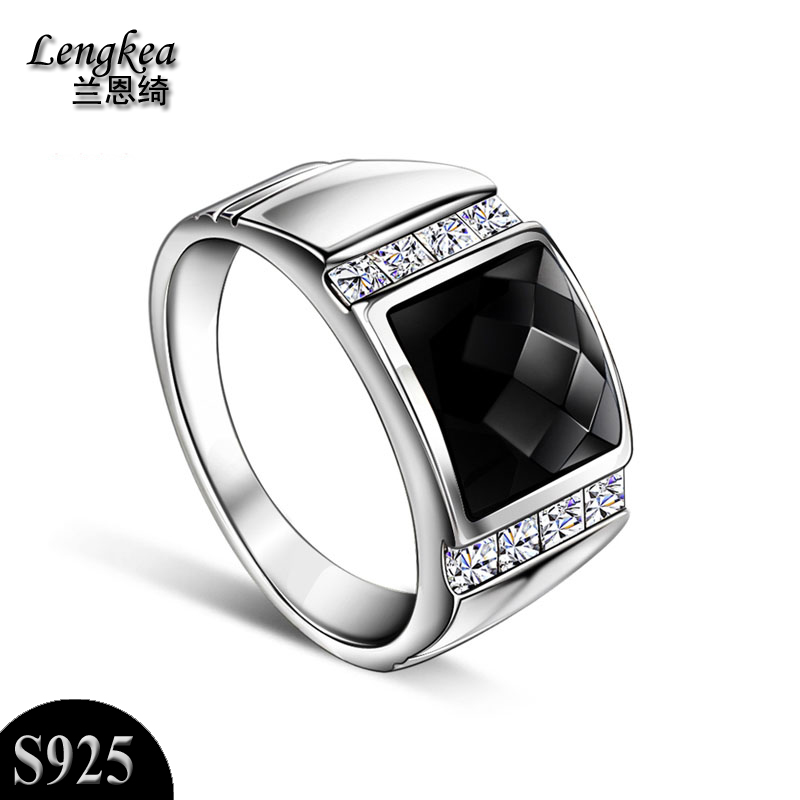 Men rings men jewelry 925 silver ring dynasty finger ring,inlay black synthetic spar+Zircon,magnets inside,fashion birthday gift цена и фото