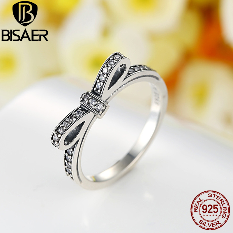 Image 3 - Genuine 925 Sterling Silver Jewelry Set Sparkling Bow Knot Stackable Ring Jewelry Sets Sterling Silver Jewelry WES022silver jewelry setsterling silver jewelry setjewelry sets -