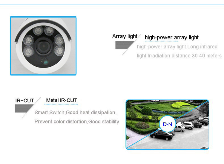 4pcs A Lot Similar to DaHua Six Array Leds 4MP 1080P 960P CMOS White Metal POE ONVIF IP Security CCTV Camera Free Shipping5